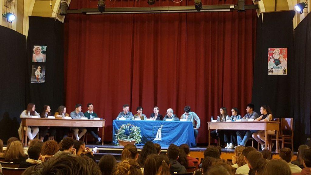 Encuentro de la presidenta del Gobierno con el alumnado de 2º de Bachillerato
