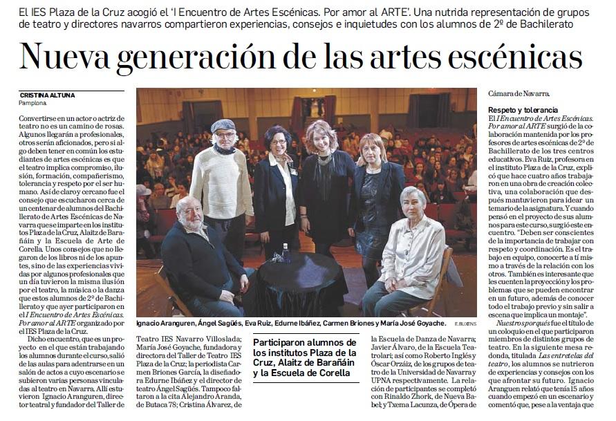 """Con esta noticia sobre el """"I Encuentro de Artes Escénicas"""" celebramos el """"Día del Teatro"""""""