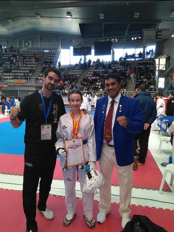 Maider Jiménez, premiada en el Open de España de Taekwondo