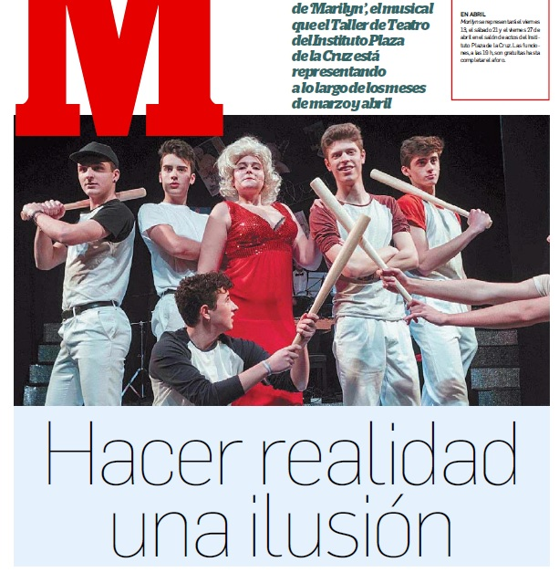 """Entrevista a Pablo Ruz, antiguo alumno y director musical de """"Marilyn. Su alma en un musical""""."""